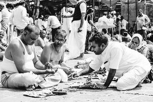Men having ritual