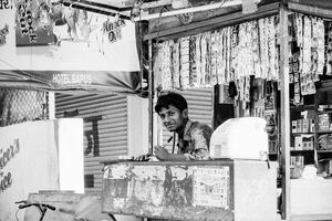 Man working in Kiosk