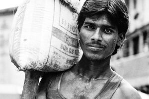 Man carrying sack