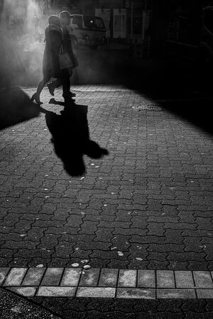 shadows and silhouettes of couple