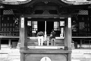 Main hall of Toyokawa-Inari