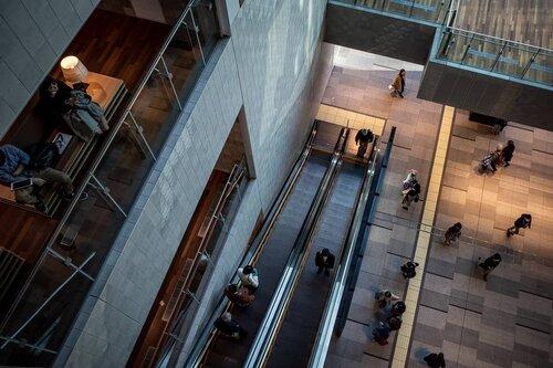 Atrium at the West Exit of Yokohama Station