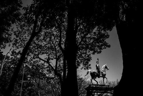 Equestrian statue of Prince Akihito Komatsunomiya