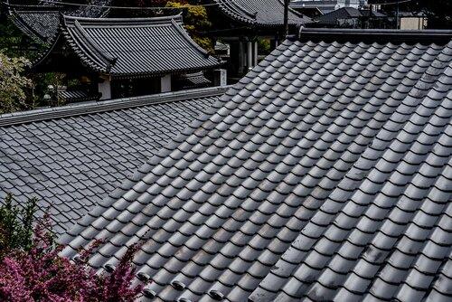 Tiled roofs in Ashikaga