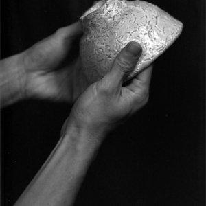 Hand seizing china bowl