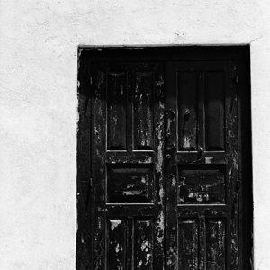 Wooden door in Fort in Galle