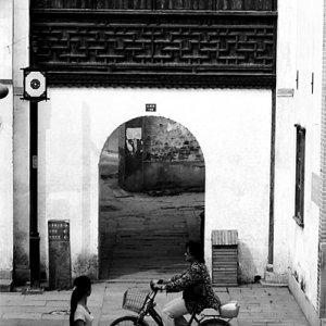 山塘街にあった小さな門