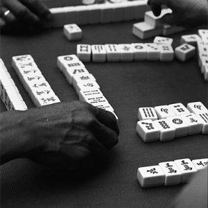 Local people playing Mahjong in lane