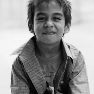 Portrait of a Kristang boy