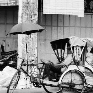 Trishaw with umbrella