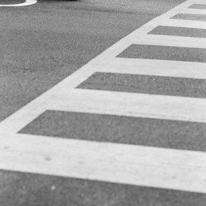Motorcycle waiting at traffic light