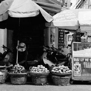 Fruiterer in street corner