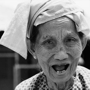 Older woman shouting