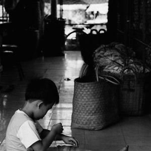 Kids sitting on floor