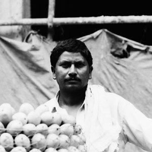 Man selling mangoes
