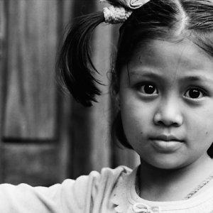 Girl gazing with big eyes