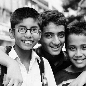 笑顔の男の子たち