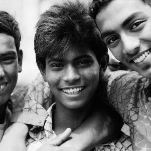 三人の陽気な男の子