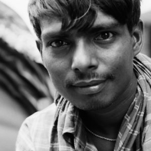 Rickshaw man staring at me