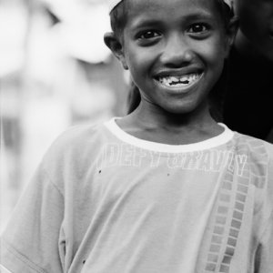 Boy smiling adorably