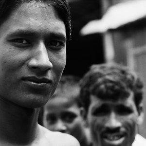 Men in village