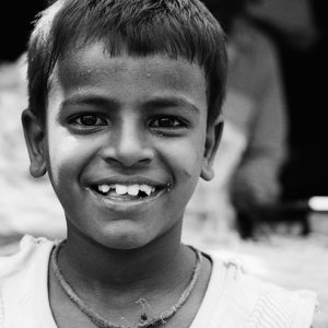 Brimful smile of boy