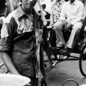 Man frying