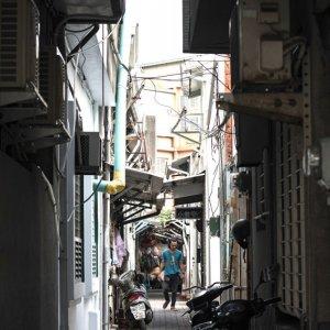 台南の細い路地