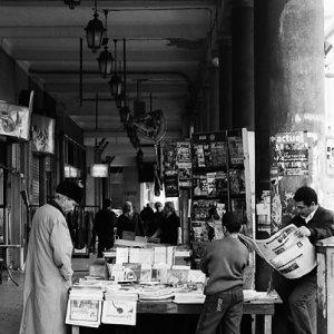 Newsstand in street corner