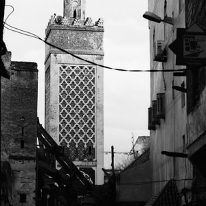 Minaret towering in old city