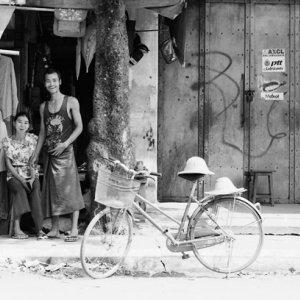 男と女と自転車