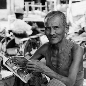 Man reading magazine