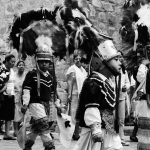 Boys in traditional costume