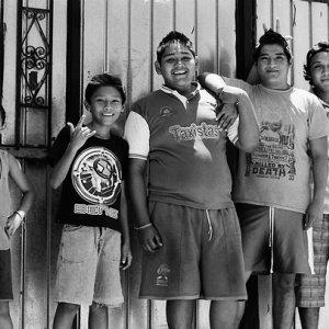 Five boys smiling
