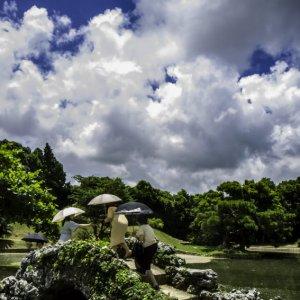 Umbrellas in Shikina-En garden