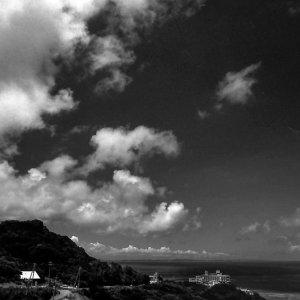 岬の突端のホテル