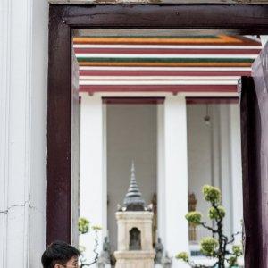 Man standing at entrance