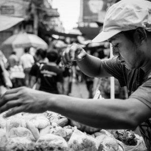 Man selling snack