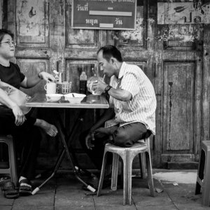Couple having a meal