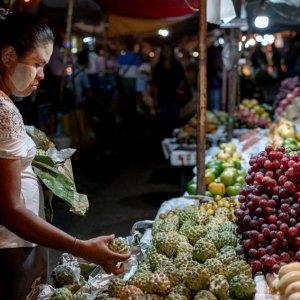 Fruit shop in night market