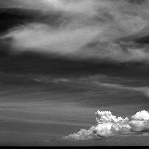 濃い雲と薄い雲
