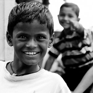 Happy face of boy