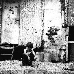 Boy crouching