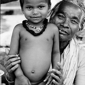 Boy and grandma