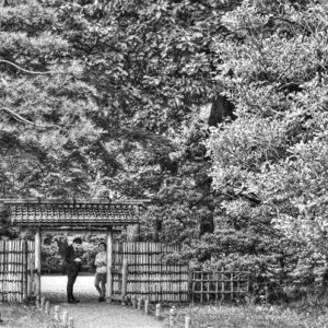 Figures at gate