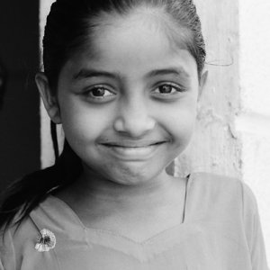 溢れんばかりの笑顔の女の子