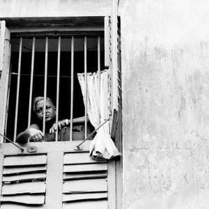 Man watching outside