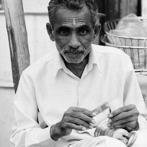 Man inscribing