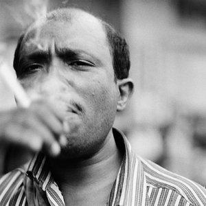 Smoke of cigarette