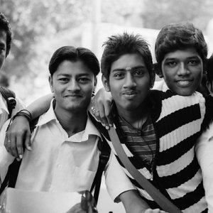 Young men after school